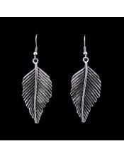 Cizgili Yaprak Earring